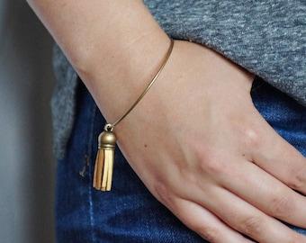 Essential Oil Diffuser Tassel Bracelet   Gold Tassel Bracelet   Vegan Suede Jewelry   Aromatherapy Bangle Bracelet   Stackable Tassel Bangle