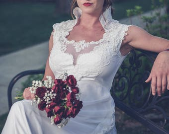 Heirloom 70's Wedding Gown - Redesigned