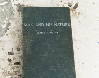 1961 MAN and HIS NATURE Vintage Notebook Journal