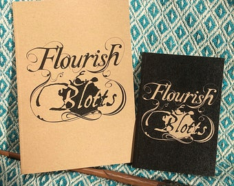 Flourish And Blotts Notebook - Harry Potter - Diagon Alley Bookshop - A6 Notebook - A5 Notebook - Recycled Paper - Stocking Filler