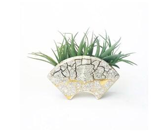 Mid Century Crackle Glaze Wall Pocket
