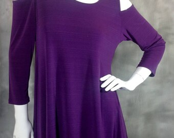 Purple Cold Shoulder Top S