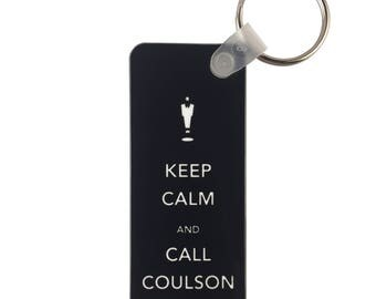 Avengers Keychain: Keep Calm and Call Coulson
