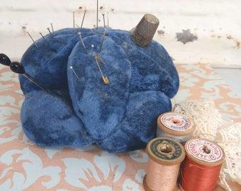 Puzzle Ball Pin Cushion, Amish Style Sewing Accessory, Vintage Americana Folk Art