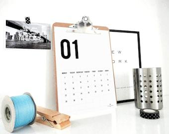 2018 Just Numbers Calendar, Printable Calendar, 2018 Planner, Monthly Calendar, Minimal Calendar, Gift for Men, Wall Calendar, Agenda, PDF
