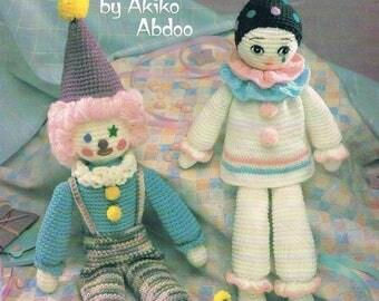 Two Crochet Clowns by Akiko Abdoo