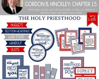 Relief Society Lesson Helps, Gordon B. Hinckley Lesson #15, RS Lesson Aides - Teachings of the Presidents of the Church, PRINTABLE Download