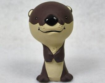 Hand Sculpted River Otter Derp Figurine