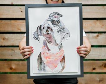 Custom Great Dane Dog Portrait, Pet Loss Gift, Dog Memorial Portrait, Sympathy Gift, Original Watercolor Dog Portrait