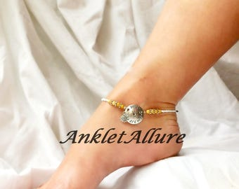 You Are My Sunshine Beach Anklet Dangle Sunflower Ankle Bracelet Yellow Anklet Cruise Accessories Body Jewelry