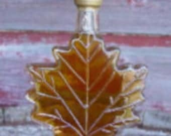 Set of 48 Glass Maple Leaf Bottles, Favors, Maple Syrup, Autumn, Fall, unique, wedding, baby shower, Party Favor, golden anniversary, 50th