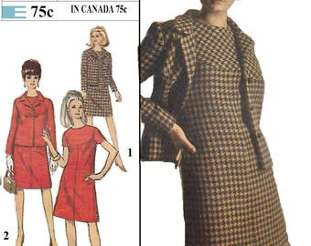 Simplicity 7264 Misses' 60s A-Line Dress and Jacket Sewing Size 10 Bust 31