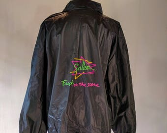 Salem Cigarettes Fresh on the Scene PVC Raincoat Jacket Top