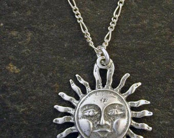 "Special for Chystal Sterling Silver Sun Pendant on a 24"" Sterling Silver Chain."