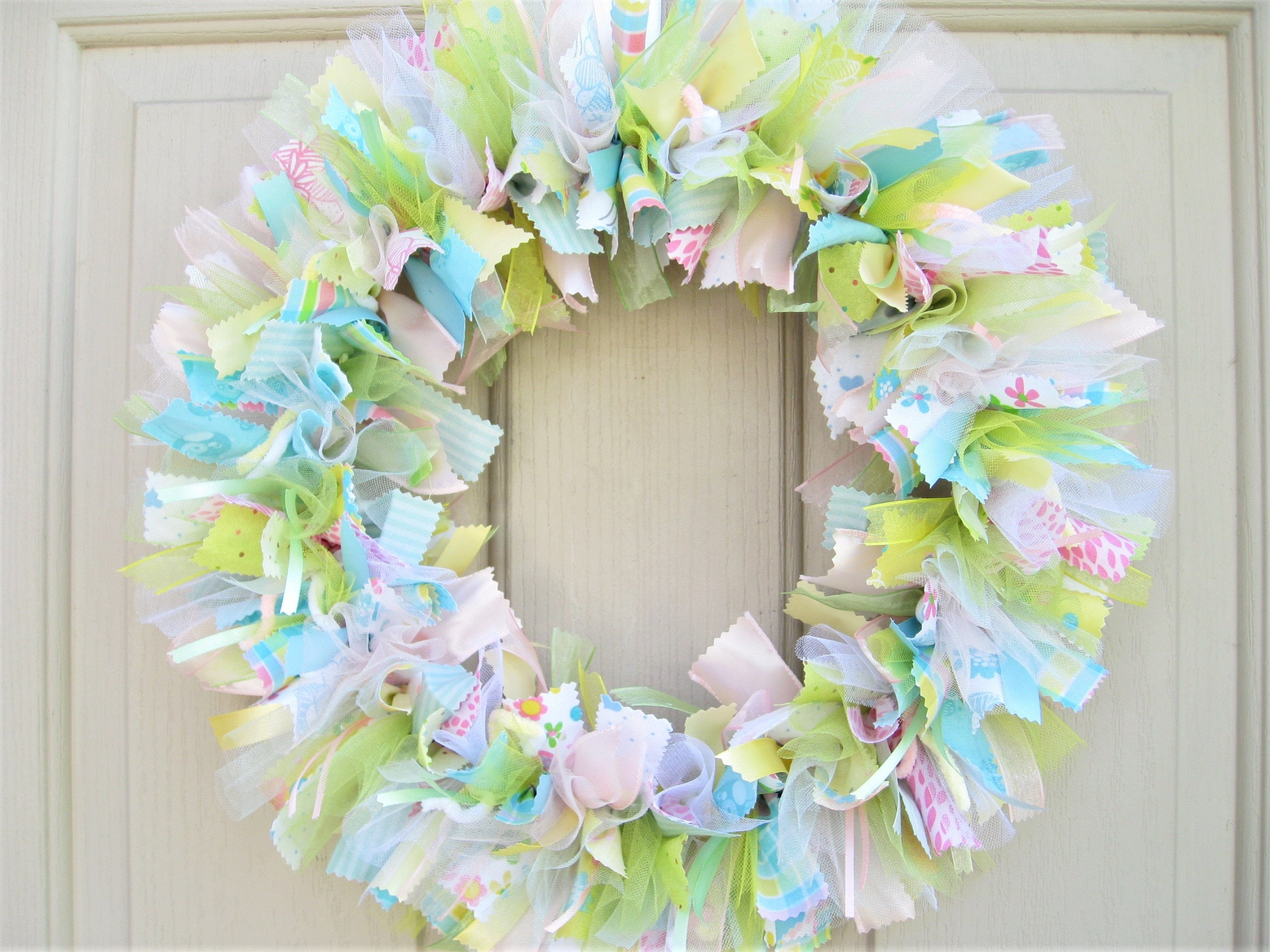 New baby wreath hospital door wreath baby shower decor for Baby shower door decoration