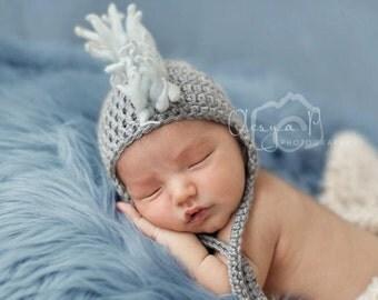 IN STOCK Baby Mohawk earflap hat, Newborn Mohawk hat - Photo prop