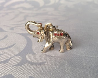 Sterling Silver Lucky Elephant Pendant, Sterling Elephant Pendant, Elephant, Elephant Jewelry, Silver Elephant
