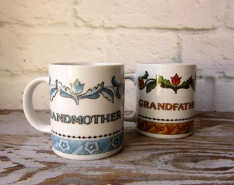 Vintage Scandinavian Cups Grandmother or Grandfather
