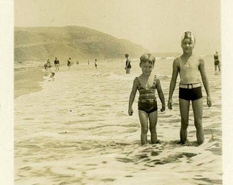 "Vintage Photo ""First Day of Summer"" Snapshot Antique Black & White Photograph Found Paper Ephemera Vernacular Interior Design Mood - 127"