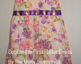 Sophia the First Halter Dress