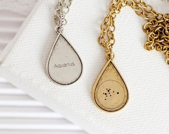 Aquarius Zodiac Stars Necklace, Aquarius Constellation Necklace, Aquarius Zodiac Gift, Aquarius Zodiac Necklace, Aquarius Sign Necklace
