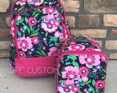 Posie Floral Backpack and Lunchbox with FREE Monogramming, Back to School, Girls Backpack and Lunchbox Set