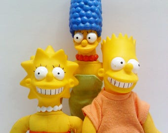 Burger King Simpsons Dolls- Bart,Lisa,Marge
