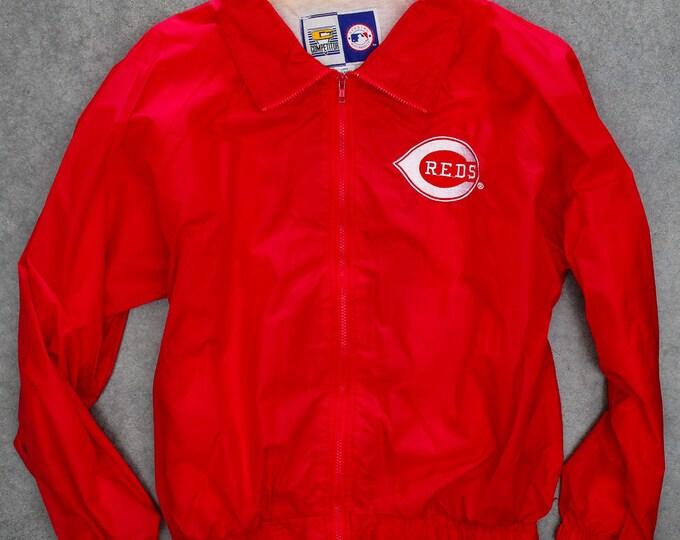 Cincinnati REDS Lightweight Jacket Red Windbreaker | Ohio Baseball Size XXL | 7ND