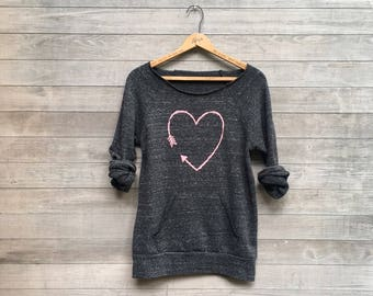 i love you more Heart Sweatshirt, Valentine's Day Gift, Girlfriend Gift, Cozy Sweater, Anniversary Gift, S,M,L,XL,2XL