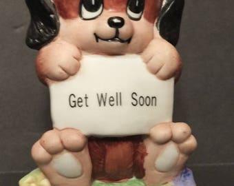 1979 Russ Berrie Get Well Soon Dog Figurine