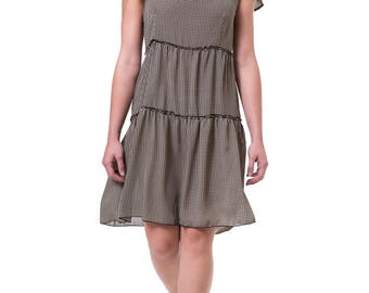 Floors dress Knee length women dress Summer short dress Romantic v neck dress