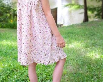 Summer Floral Dress, Baptism, Flower Girl Dress, Fall Wedding, Birthday Girl | Baby, Toddler, Girl | Free Shipping