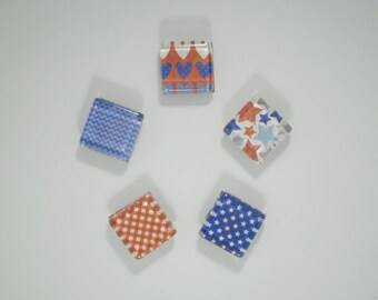 Magnets, Refrigerator Magnets, Office Magnets, America Theme Magnets, Teacher Gift, Stocking Stuffer, USA Magnets, America, Red White & Blue