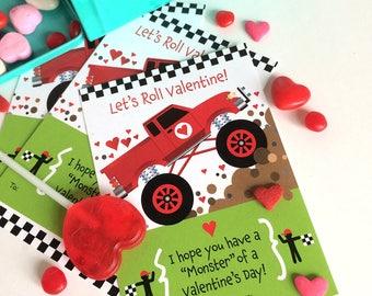 Monster Truck Valentine for Kids