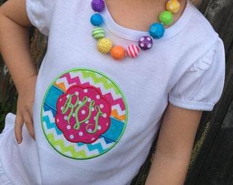 Monogram shirt-birthday shirt, rainbow shirt, summer shirt