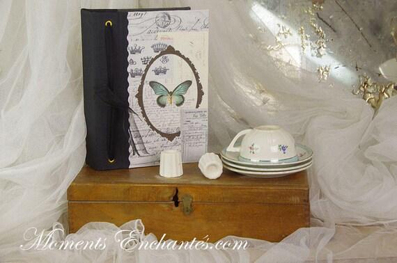 Saint Valentin Telephone book swallow  vintage shabby chic