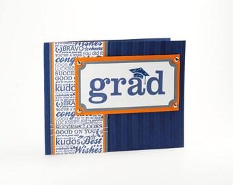 Card For Graduation - Card for Graduate - Grad Congratulations - Grad Card Messages - Navy Card - Congratulations Card - Grad Cards