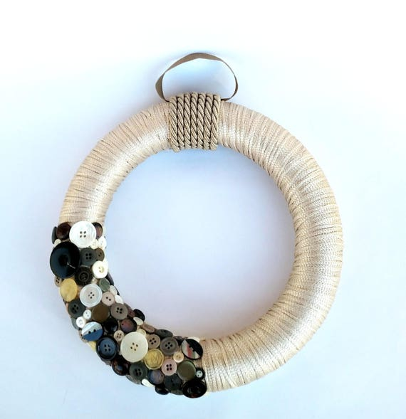 Button Chic Wreath