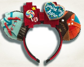 Ralph and Vanellope Mouse Ear Headband with Bow