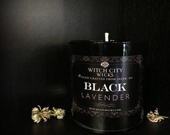 Black candles, BLACK lavender, soy candle, soy candles handmade, soy wax candle, scented soy candles, hand poured soy candles