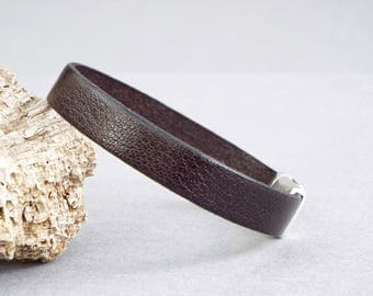 Womens Leather Bracelet, Girlfriend Gift, Leather Anniversary, Strap Bracelet, Wife Gift, Gift for Her