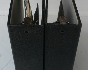 vintage notebooks, 3 ring binders, journals, group of 2, black, from Diz Has Neat Stuff