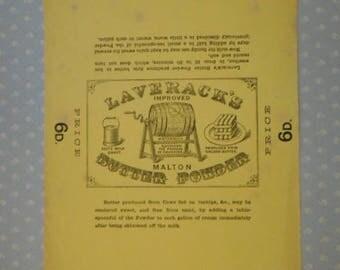Victorian Antique Laverack's Butter Powder