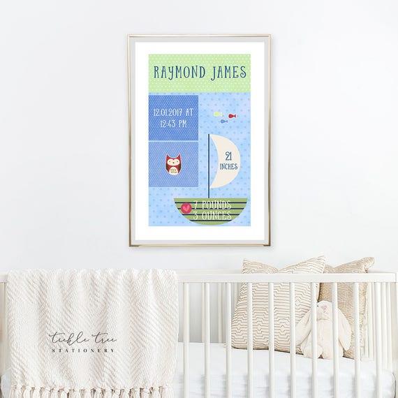 Art Print - Birth Poster, Life's At the Beach (W00026)