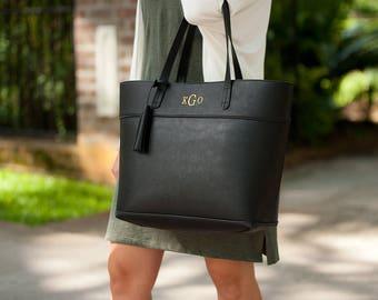 Personalized Aubrey Purse ~ Monogrammed Purse ~ Personalized Purse ~ Monogrammed Black Purse ~ Black Handbag ~ FREE Personalization