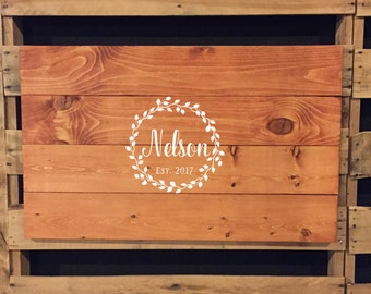Wedding Guest Book | Guest Book Sign | Wooden Guest Book | Name Sign | Established Date | Alternative Guest Book | Wedding Decor | 22601