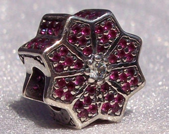 Authentic Pandora, Poinsettia, Bracelet Charm, Silver, Cz 925 ALE, 2016 Black Friday, Red, Holiday, Limited Edition, Gift Box, FREE SHIPPING