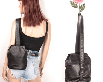 leather mini backpack // one strap // perlina new york