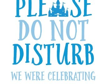 Do Not Disturb Door Hangers with Castle and Stars for Wedding Welcome Bags