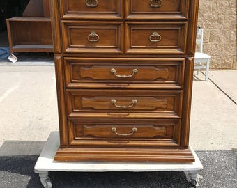 Vintage traditional dresser, farmhouse chest, PICK UP ONLY painting inc. farmhouse, rustic bedroom, tallboy, traditional, rustic, distressed